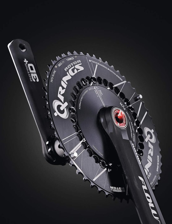 Rotor Q-Rings dominate the market for eliptical chainrings, which are claimed to eliminate the dead spot in the pedal stroke