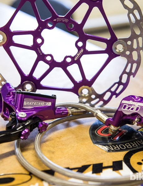 Hope Technology purple brakes