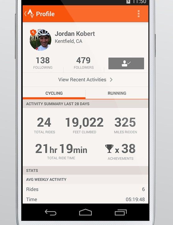 Instead of separate Ride and Run apps, there is now just Strava, and users can toggle between activity types