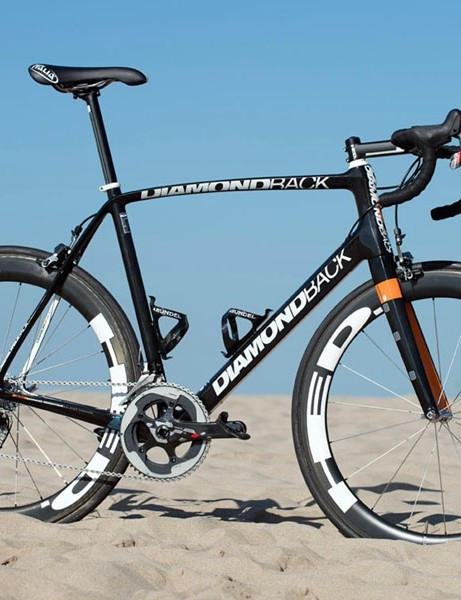 Diamondback now offers a Podium Optum model that is nearly identical to this Optum Pro Cycling team-issued machine, ridden by Tom Zirbel