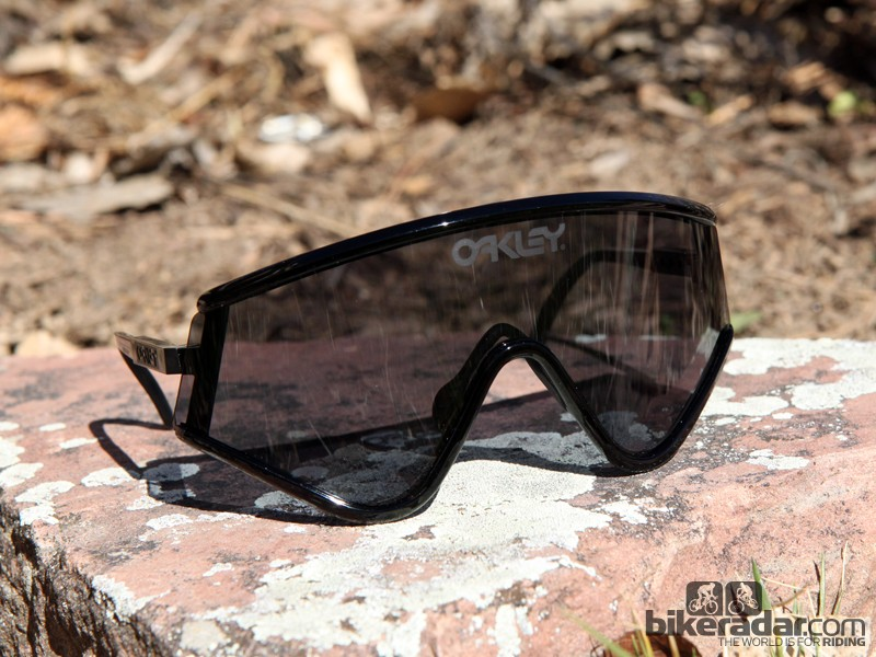 Oakley is bringing back some of the sunglass models that put the company on the map in the mid-80s: the Eyeshade (shown here), the Razor Blades, and the Frogskins