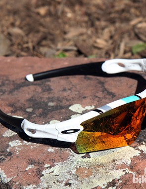 Oakley will apply the retro touch to current models like the Radar in the form of small graphics in throwback colors