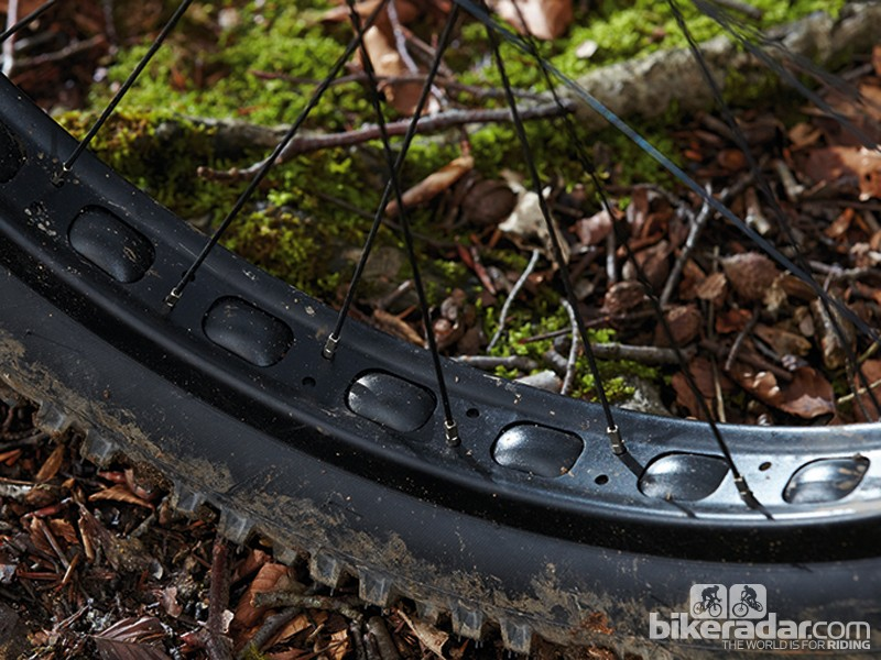 The giant tyres dispatch roots and rocks with ease but squirm under hard cornering