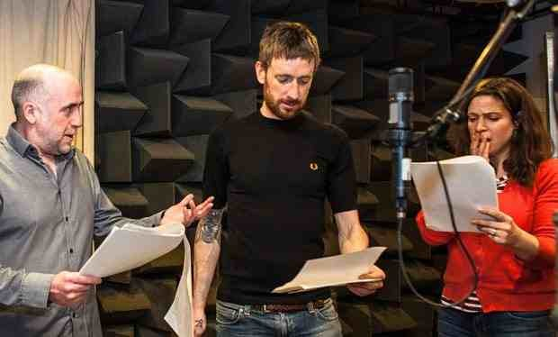 Bradley Wiggins recording his cameo for The Archers