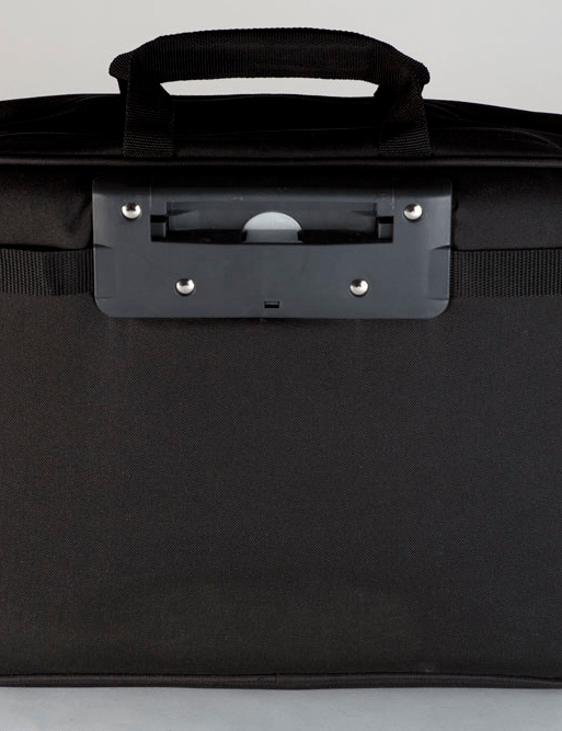 The interface of the bags is recessed and low profile so nothing rubs against you while you are wearing the bag