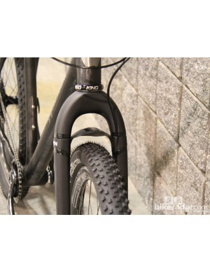 The yet-to-be-released ENVE mountain fork is designed for 29ers and can clear 29+ tires (up to 88mm at their widest point)