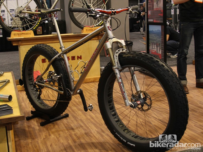 Eriksen was showing off this custom titanium fat bike at the North American Handmade Show. Eriksen fat bikes start at US$4,000