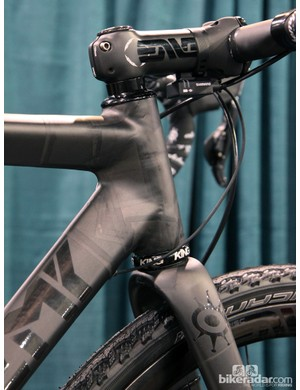 The raw finish on Alchemy's Aithon gravel racer prototype puts the underlaying lay-up on display for all to see