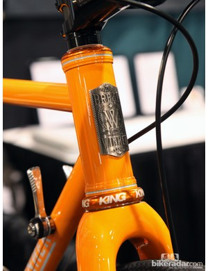 The 44mm-diameter head tube on Breadwinner's B-Road will accommodate straight or tapered forks