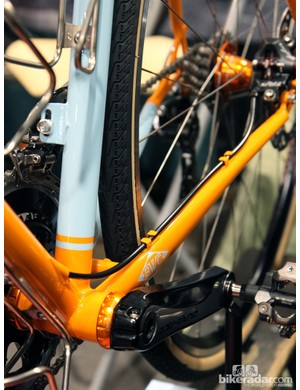 Breadwinner offers the B-Road in disc or rim brake configurations. Routing on the disc option is admirably tidy