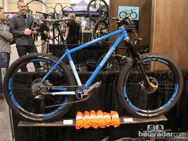 Breadwinner Cycles specializes in semi-custom frames. The latest edition to the line-up is the Bad Otis, an ultra-slack 650B (27.5in) hardtail
