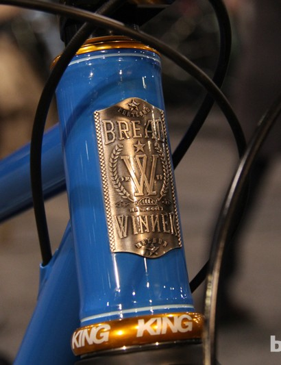 The Breadwinner Cycles' headbadge is quite intricate