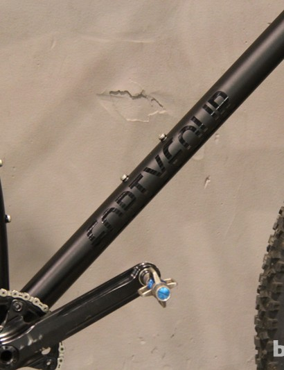 The stealthy 44 Bikes steel frame has an understated look