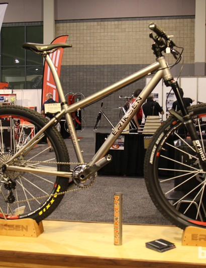 Slack, trail-oriented 650B hardtails were a common sight at this year's show