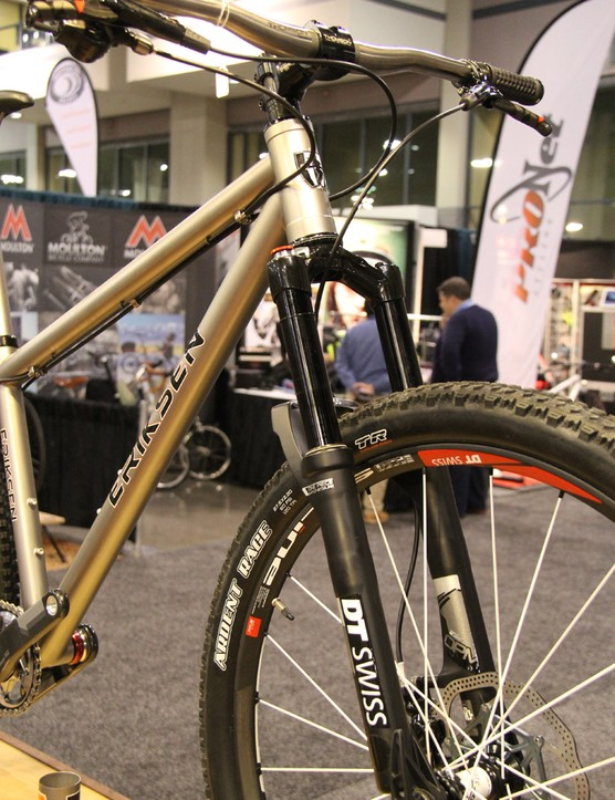 This Eriksen 650B hardtail is paired with a 120mm DT Swiss fork