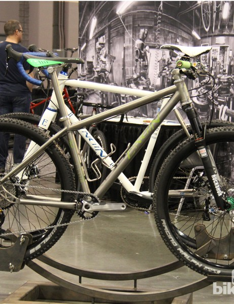 Engin Cycles Ti hardtail has clean lines and immaculate welds