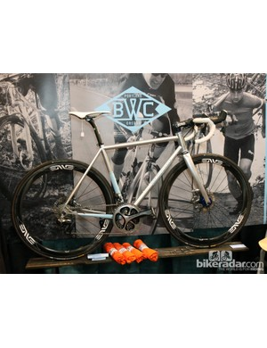 Breadwinner Cycles offers its Lolo steel road racer with either rim or disc brakes
