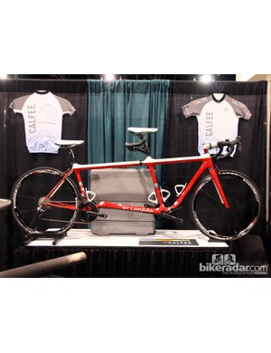 Calfee also has a long history building innovative carbon fiber tandems. This one is actually a modular design that can be easily converted into a single bike