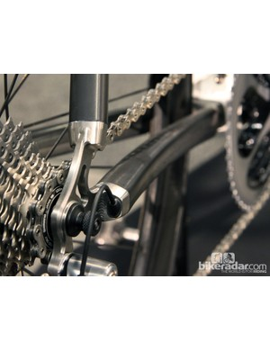 Gorgeous titanium dropouts on the Holland Cycles HC