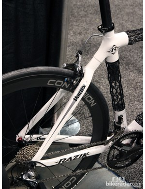Razik says it's molding the stays, lugs and even the fork for the Vortex in-house in Utah