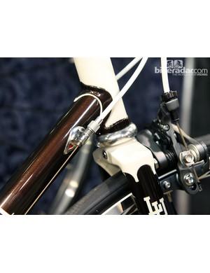 Detail work is exquisite on Rich Adams' special Lehigh University bikes