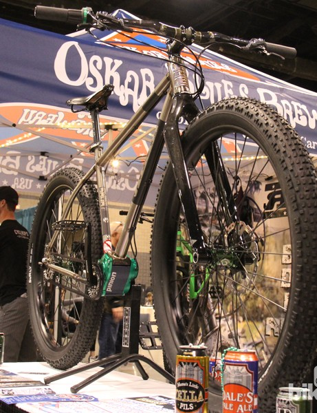 Reeb went big with a 29+ mountain bike outfitted with a Pinion gearbox