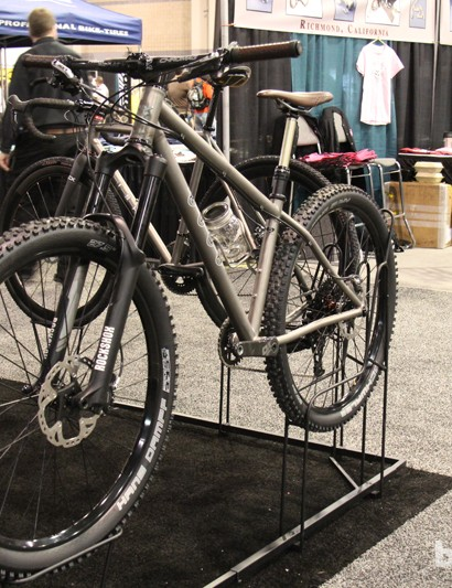 Kish had this impeccably welded and understated 650B hardtail on display