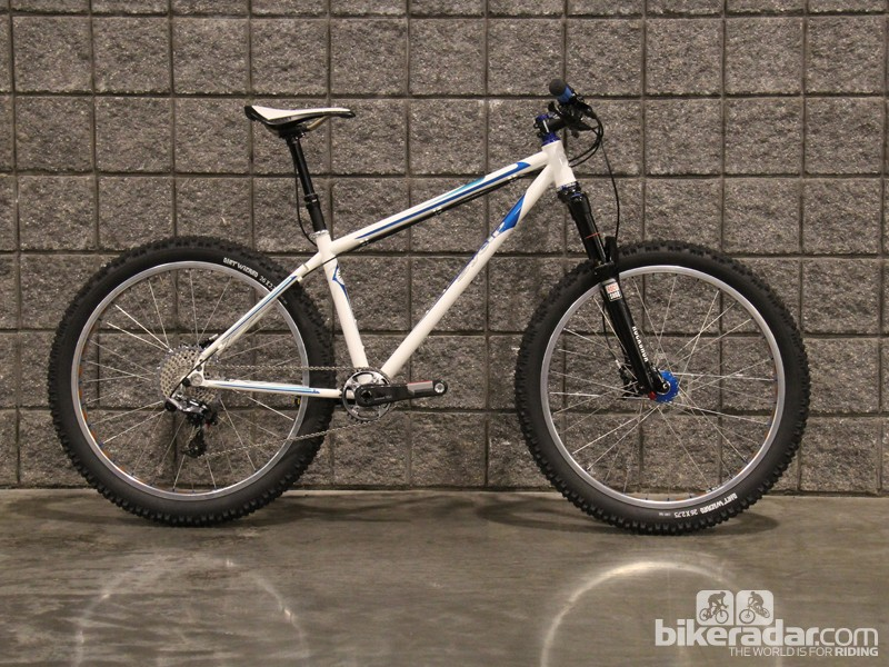 Frame builder Jeremy SyCip was one of a handful of builders displaying a mountain bike with 26in wheels