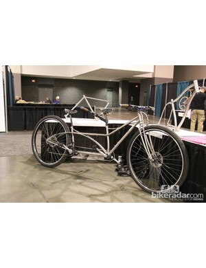 A University of Iowa student must have been working towards extra credit with they built this Ti tandem 36er...