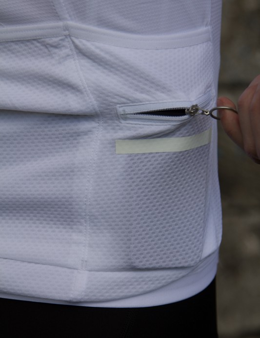 This fourth security pocket is large enough for a smartphone - pictured is an iPhone 5