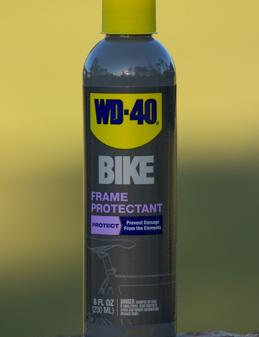 WD-40 Bike Frame Protectant is used for a final (and optional) step in bike maintenance