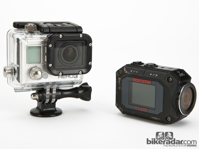 The GoPro and JVC Addixxion take very different approaches to the action camera