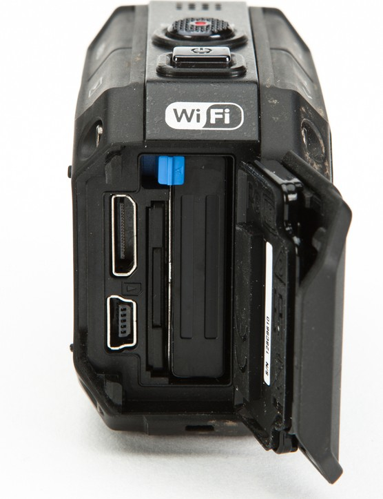 Battery, SD card, HDMI and USB slots are protected by a sealed cover on the back of the camera