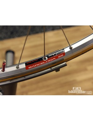 Yep, Campagnolo managed to dig up a set of these for Peter Chisholm's retirement present