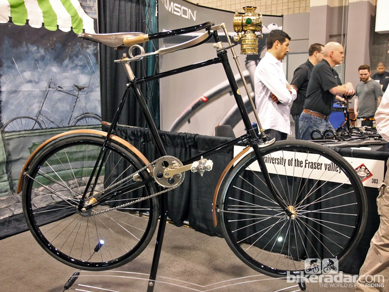Paul Brodie is better known for his mountain bike brand but he also teaches a framebuilding class at the University of the Fraser Valley, fabricates vintage motorcycles (engines included!) from scratch, and occasionally even recreates bikes of notable historical value. At this year's NAHBS, Brodie unveiled this stunning recreation of an 1894 Starley Giraffe
