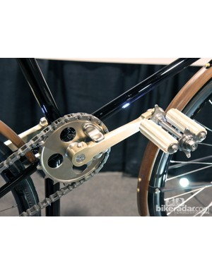 The crankarms and chainring were also machined from raw billet. Finish quality is impeccable