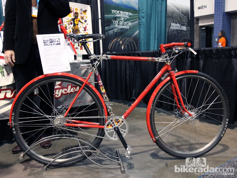 Sunrise Cycles' jaw-dropping fixie. The closer you looked, the more there was to see. Quoted retail price was US$20,000 - the fruit of two months of labor