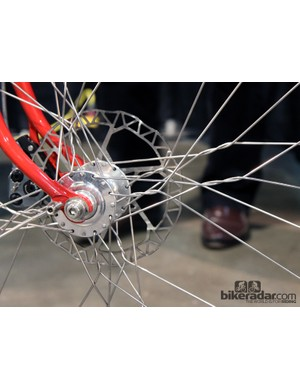 This is certainly the most extreme spoke lacing we've ever seen