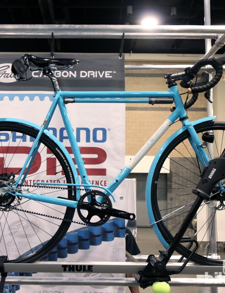 Shamrock Cycles' Gates entry was a battery-powered bike of a different kind, built with a Shimano Alfine Di2 drivetrain