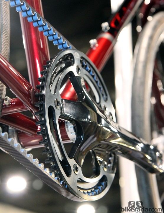 The outer guard makes for a very clean-looking crankset