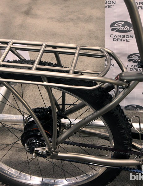 The rear rack may bolt on to the chassis but with a perfectly matching finish, you can barely tell