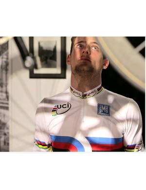Luke Davison who recently won gold as part of the Australian men's team pursuit squad at the Track World Championships in Cali, Colombia