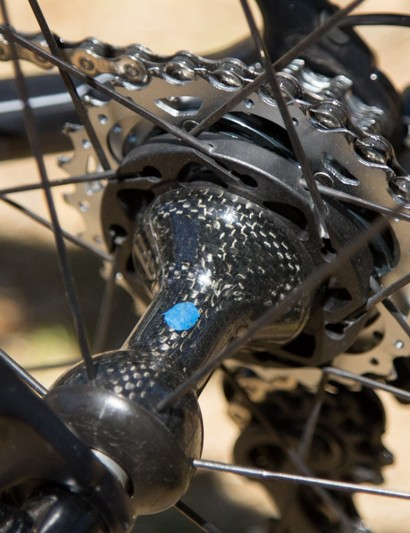 These beautiful carbon hubs house CULT ceramic bearings and are part of the Campagnolo Bora Ultra Two wheels