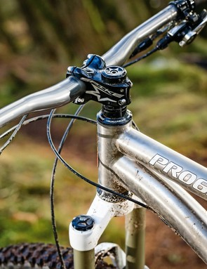 The 750mm Spank Subrosa bars and Spike 50mm stem are a bit aggro