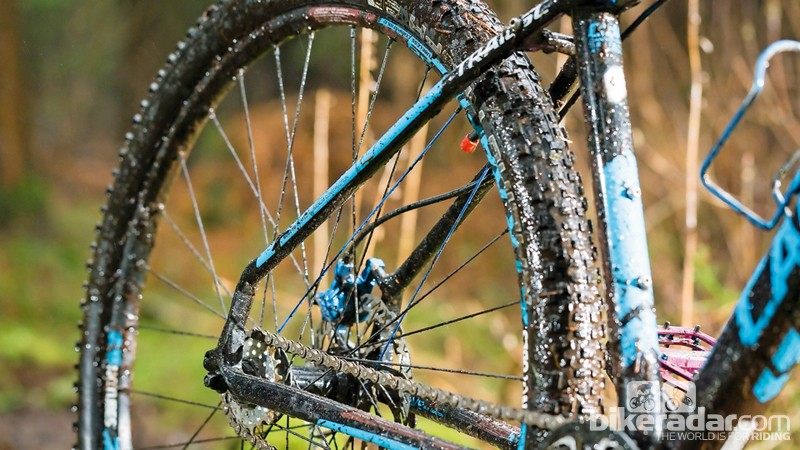 That's not mud. That's where the rider burst