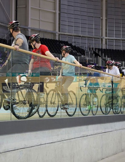 The chance to have a go on the Sir Chris Hoy Velodrome is a popular Scottish Bike Show attraction