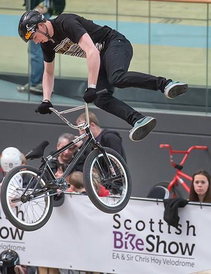 Stunts stars wow the crowds at the Scottish Bike Show