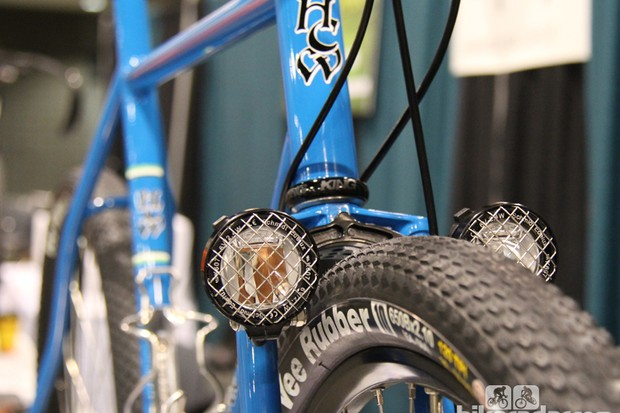 Kevin Harvey of Harvey Cycle Works combined stunning aesthetics with clever engineering touches in this gravel racer. Harvey won Best New Builder at this year's North American Handmade Bicycle Show