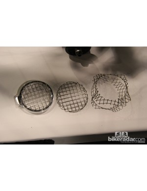 Harvey even pressed his own stainless steel mesh covers for the headlights