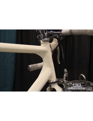 The head tube on this Airtight features fillets built up and sculpted to give in an aero appearance
